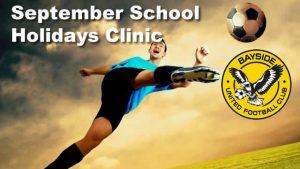 September School Holiday Clinic @ Bayside United FC | Lota | Queensland | Australia